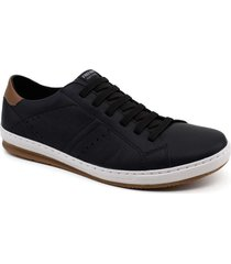 sapatenis casual masculino couro free way dust