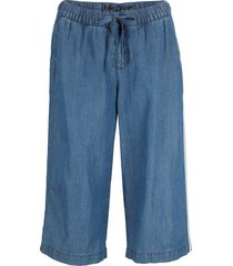 pantaloni culotte di jeans in misto lino con tencel™ lyocell (blu) - john baner jeanswear