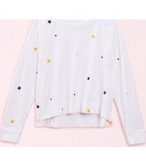 loft lou & grey star terry sweatshirt