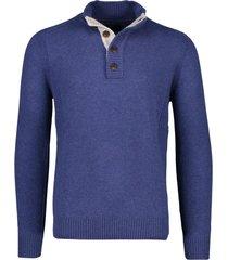 portofino trui extra lange mouwen kobalt blauw