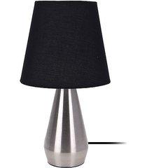 lampa stołowa nocna dotykowa black