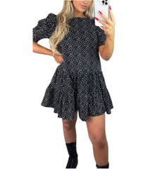 ax paris polka dot smock dress