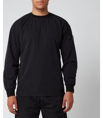 c.p. company men's technical crewneck sweatshirt - black - xxl