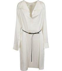 bottega veneta laced waist placket-less dress
