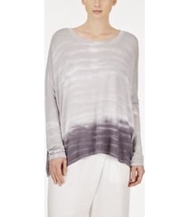 adyson parker plus size tie dye long sleeve ballet neck swing tee