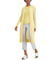 alfani button-front spring cardigan, created for macy's