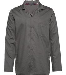 ls woven shirt pyjamas grå tommy hilfiger