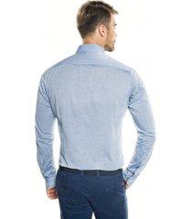 koszula bexley 2746 długi rękaw slim fit niebieski