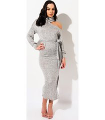 akira social house turtle neck maxi dress