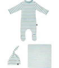 infant boy's rags essentials newborn bundle footie, hat & swaddle blanket set