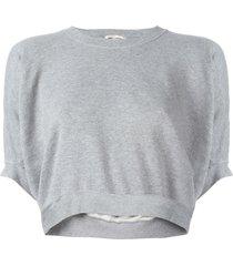 comme des garçons pre-owned square grey cropped sweatshirt