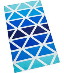 closeout! martha stewart collection ombre triangle beach towel, created for macy's bedding