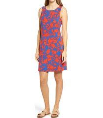 women's tommy bahama sunset vista sleeveless sheath dress, size medium - blue