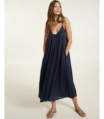 motivi vestito ampio in raso donna blu