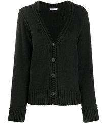 p.a.r.o.s.h. braid trim cardigan - black