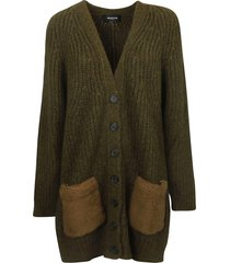 rochas buttoned cardigan