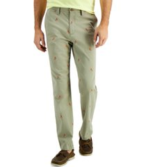 club room men's parrot-print pants, created for macy's