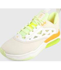 tenis lifestyle blanco-verde-naranja nike jordan air max 200 xx