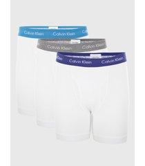 calzoncillos cotton stretch - boxer brief 3pk blanco calvin klein