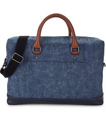 ted baker men's contrast-handle messenger bag - navy