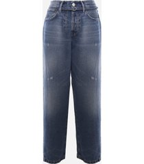 acne studios loose fit jeans made of cotton denim