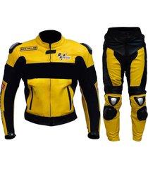 new men multicolor motorcycle racing leather suit jacket pants
