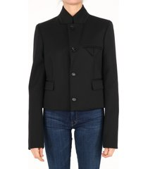 bottega veneta waisted jacket black