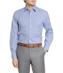 men's nordstrom men's shop traditional fit non-iron plaid dress shirt