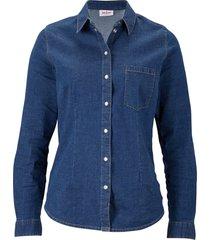 camicia di jeans elasticizzata (blu) - john baner jeanswear