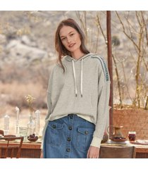 sundance catalog women's rayne hoodie sweatshirt in heather gray 2xl