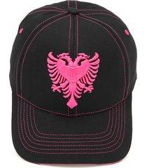 boné cavalera águia pespontos preto/pink