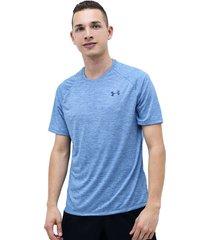 camiseta azul under armour tech 2.0 v ck