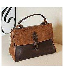 leather handbag, 'traditional vanguard' (mexico)