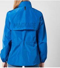 mackage women's bonnie coat - blue - l
