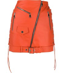 manokhi biker mini jacket - orange