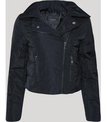 jaqueta feminina biker gola perfecto preta