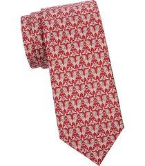 elephant-print silk tie