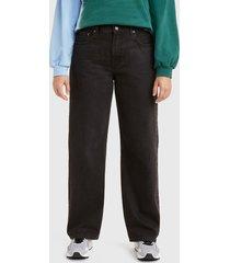 jeans levis black lightbeam negro - calce holgado