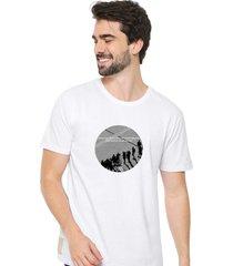 camiseta sandro clothing moment branco - branco - masculino - dafiti