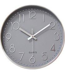 relógio de parede 30cm cinza