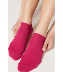 calzedonia unisex cotton no-show socks man pink size 40-41