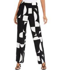 alfani printed palazzo pants, created for macy's