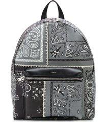 amiri bandana patchwork backpack - grey