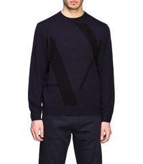 armani exchange sweater armani exchange crew neck sweater with big logo