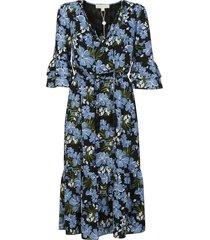 michael kors floral printed evening dress