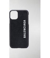 balenciaga logo print iphone 11 case