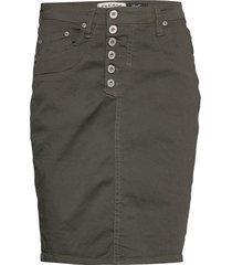 sl cotton knälång kjol grön please jeans