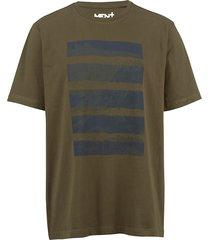 t-shirt men plus olijf::marine
