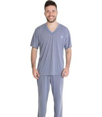 pijama manga curta linha noite 091 masculina - masculino