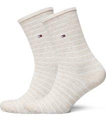 th women sock 2p small stripe lingerie socks regular socks beige tommy hilfiger